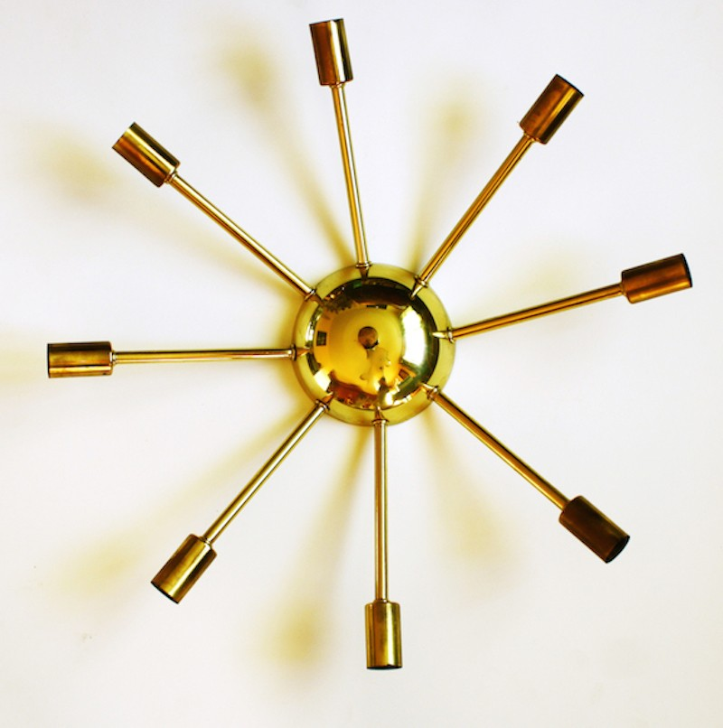 Brass Starburst Sconce